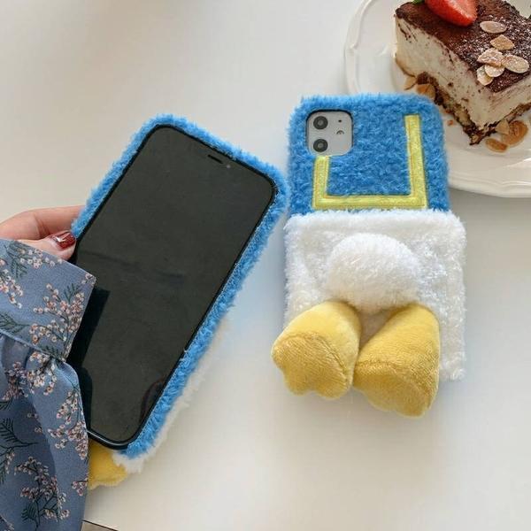 iPhone12 蘋果手機殼 唐老鴨的性感屁屁 毛絨軟殼
