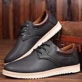皮鞋2021春季男鞋子黑色防滑工作鞋防水耐磨休閒皮鞋韓版潮青年廚師鞋  雲朵 上新
