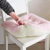 坐墊羊羔絨坐墊餐桌椅保暖墊汽車學員墊老板辦公室靠椅軟墊子 【快速出貨】