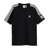 IMPACT Adidas Originals Tech Tee 三葉草 三線 黑 白 拼接 短T 男女 ED6116