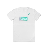 Asics 短袖T恤 2020 Olympic Tee 白 綠 男款 短T 奧運系列 運動休閒 【ACS】 K1200201
