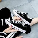 帆布鞋 2021年春秋季新款球鞋爆款帆布鞋女鞋子板鞋夏季薄款百搭休閑布鞋 歐歐
