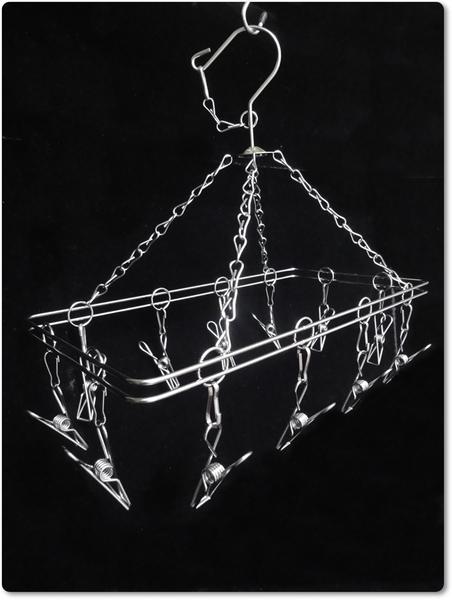阿仁304不鏽鋼曬衣架 吊衣架 晾衣架 掛衣架 台灣製造 長方形12夾