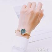 手錶 氣質小錶盤手錶女迷你小巧復古細鏈條文藝手鐲錶簡約韓版休閒大氣 新年禮物