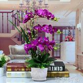 仿真花 仿真花蝴蝶蘭套裝客廳擺設餐桌裝飾花假花室內盆栽擺件塑料花絹花igo 唯伊時尚