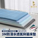 【BEST寢飾】台灣製造 3M防潑水記憶床墊 單人3尺 厚度5cm 透氣抑菌 學生床墊 日式床墊 可拆洗