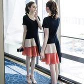 mm200斤顯瘦大碼女裝 款V領連身裙 大尺碼洋裝 超值價