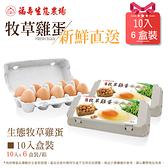 (預購)福壽生態農場牧草雞蛋10入x6盒裝/箱