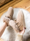 雪地靴-冬季新款時尚皮毛一體雪地靴女短筒厚底加絨加厚百搭學生棉鞋