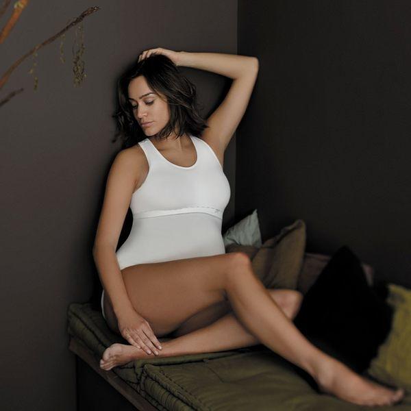 孕婦背心 法國 Cache Coeur - ILLUSION 款 彈性挖被孕婦背心 象牙白 CR1210