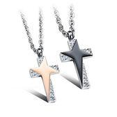 【5折超值價】 【316L西德鈦鋼】最新款經典時尚精美星星閃爍十字架造型情侶款鈦鋼項鍊