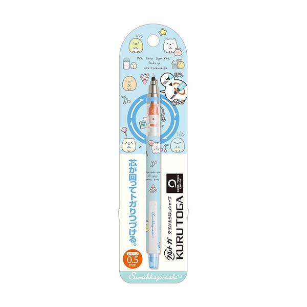 SAN-X 角落生物 KURUTOGA 旋轉不斷蕊自動鉛筆 0.5mm 甜點 藍_XS77388