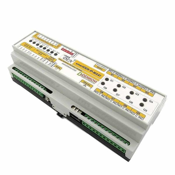 Denkovi smartDEN Maxi I/O繼電器模塊 SNMP HTTP with DIN Rail Box 24V [2美國直購]