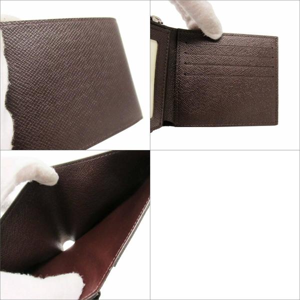 LOUIS VUITTON LV 路易威登 褐色Taiga牛皮二折短夾 Amerigo M42099 【BRAND OFF】