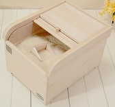 米桶 大米裝米桶實木質米盒子儲米箱30斤防潮密封5kg10kg米缸家用【快速出貨】