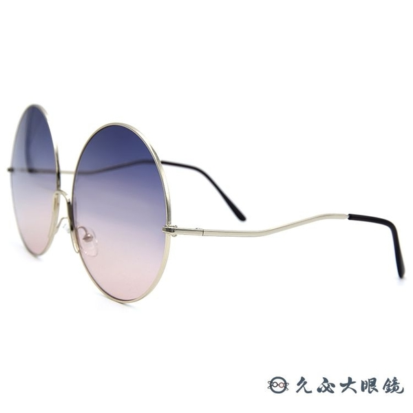 SPEKTRE 太陽眼鏡 SHANGHAI (金) 時尚大圓框 紫粉雙色鏡片 墨鏡 久必大眼鏡