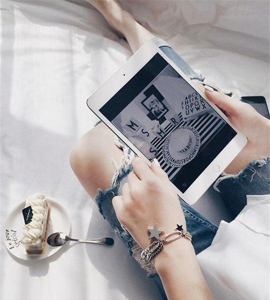 Qmigirl 韓版 時尚裝飾 日韓潮款 質感多層星星吊墜女手鏈手手環鐲配飾品【G2085】