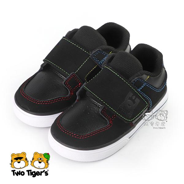 美國 DC TODDLER'S PURE V II 黑色 皮質 魔鬼氈 小童鞋 NO.R5074