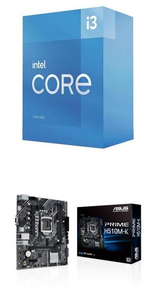【自組DIY兩件組I3】Intel i3-10105+華碩 PRIME H510M-K