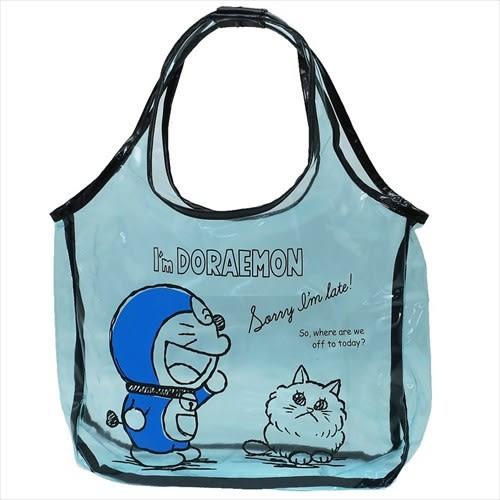 日本哆啦A夢小叮噹防水包游泳包側背包肩背包衣物盥洗包藍底與貓455552通販屋