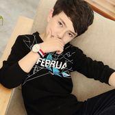 男童長袖t恤2018新款秋裝韓版男孩13春秋上衣男大童打底衫12-15歲