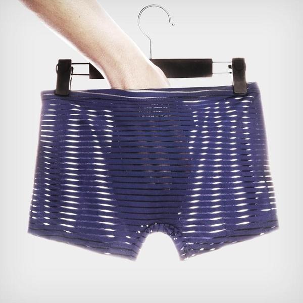 三條裝薄款男士冰絲內褲無痕一片式透氣平角褲四角褲 萬客居
