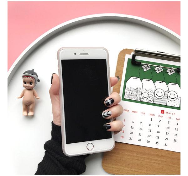 iPhone手機殼 可掛繩 旺仔大拇指好棒棒 矽膠軟殼 蘋果iPhone7/iPhone6 手機殼