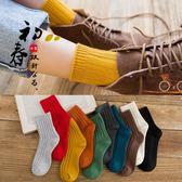 襪子女中筒棉質堆堆襪正韓學院風日系冬季紅短襪黑色長秋冬款正韓台秋節88折