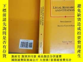 二手書博民逛書店Teplys罕見Legal Research and Citat