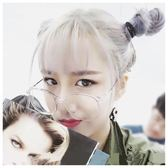 韓國ulzzang圓形復古經典大框平光金屬男女透明鏡架【諾克男神】