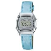 【CASIO】 優雅質感時尚皮質電子腕錶-淺藍(LA-670WL-2A)