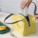素色點點加大防水便當保溫袋 手提餐袋 鋁箔野餐袋 88326