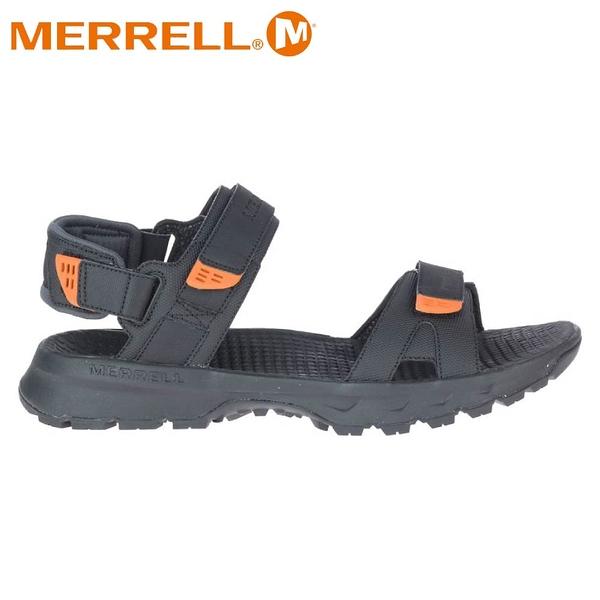 【MERRELL 美國 男 CEDRUS CONVERT 3 健行涼鞋《黑/橘》】ML036173/休閒涼鞋/健行涼鞋