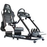 IONRAX RS1 賽車遊戲支架+RS SEAT SET 後半段賽車椅組 - 黑白  (本產品為DIY 自行組裝產品,不含安裝)