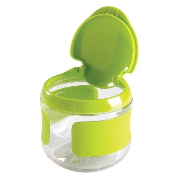 美國 OXO tot 隨行掀蓋零食杯150ml(餅乾盒)-綠色