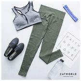 Catworld 雪花混織坑條針織運動褲【12001710】‧S/M/L