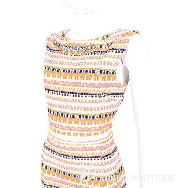 BLUGIRL 多彩織紋鑽飾背心洋裝 1620613-40