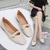 奶奶鞋平底百搭韓版豆豆淑女鞋子單鞋女春款夏款新款夏季潮鞋 至簡元素