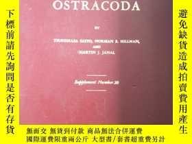 二手書博民逛書店CATALOGUE罕見OF OSTRACODA 20【館藏 有印