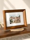相框 實木質相框ins簡約風桌面擺件擺台6 7 8寸洗照片做成相框掛牆【八折促銷】
