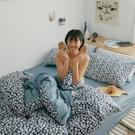 《預購》純棉 床包被套組(薄) 加大【黛西】ikea風 100%精梳棉 翔仔居家