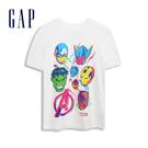 Gap男童Gap x Marvel 漫威系列棉質舒適圓領短袖T恤551233-光感亮白