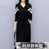 衛衣裙 女裝秋季時尚大碼微胖女孩mm中長款寬鬆遮肚衛衣連衣裙減齡 交換禮物