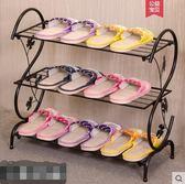 鞋架簡易家用多層簡約現代經濟型鐵藝 cf