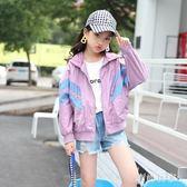 中大尺碼 女童外套秋季2018短款外套長袖寬鬆休閒夾克棒球服 ys6282『時尚玩家』