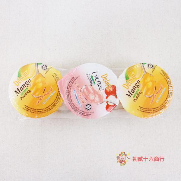 馬來西亞零食樂勝椰果水果布丁(荔枝+芒果口味)360g_3入【0216零食團購】9557503803108