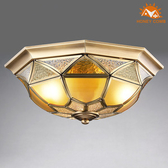 HONEY COMB 美式臥室銅製品吸頂三燈 EL-1674銅製品