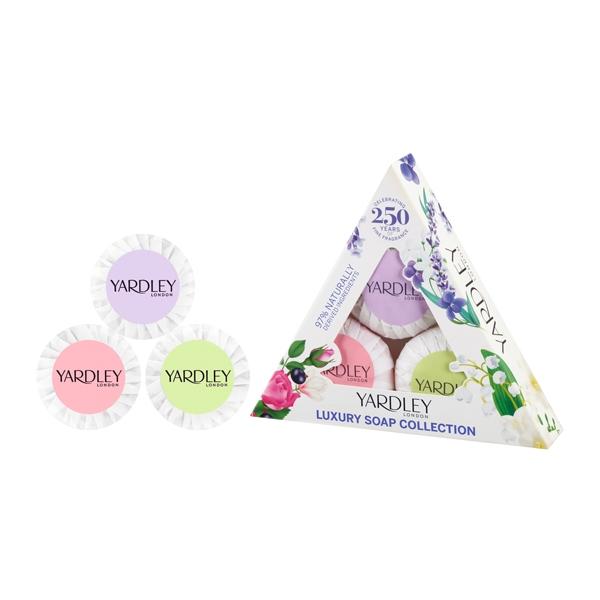 YARDLEY雅麗 奢華香皂禮盒 (薰衣草、山谷百合、英國玫瑰)50g*3 Vivo薇朵