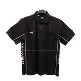 (B4) MIZUNO 美津濃 男 POLO衫 短袖上衣 高爾夫球衣 胸前有口袋 32TA001909 黑 [陽光樂活]