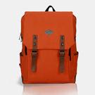 SINGLE單眼皮女孩 簡約時尚學院風內筆電隔層可放A4雙側袋實用雙磁釦拉鍊尼龍帆布後背包